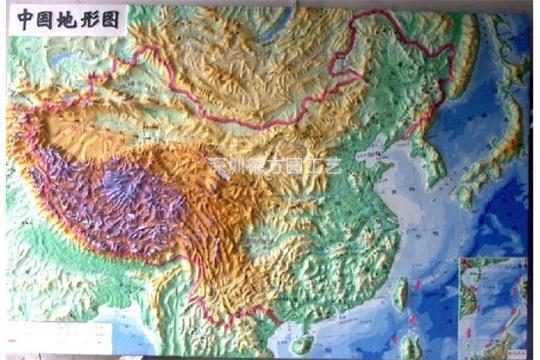 立体模型地图图片